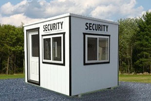 commercial portables security booth outside