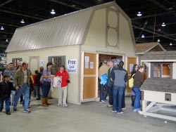 Visitors at the PA Farm Show in Harrisburg, PA.